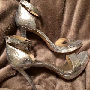 Michael Kors Metallic Platform Sandal